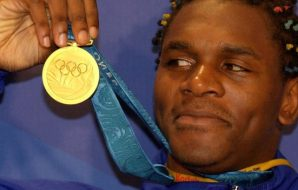 Audley Harrison Olympic gold medal winner.