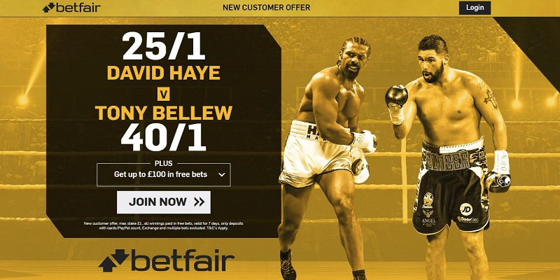 Tony Bellew - David Haye - betting odds