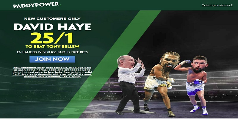 paddy power David haye