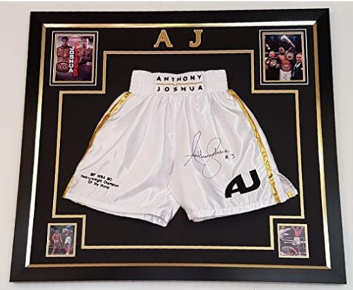Steve Collins Signed Boxing Trunks Shorts Autograph Celtic Warrior Memorabilia
